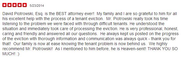Yelp Review Law Office of David Piotrowski