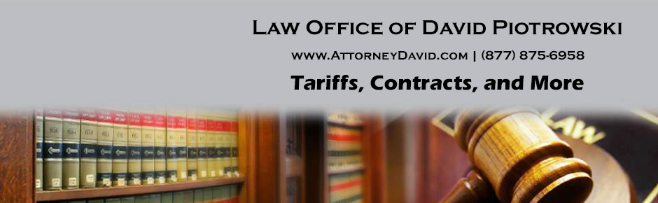 Law Office of David Piotrowski - Household Goods Tariffs and Contracts