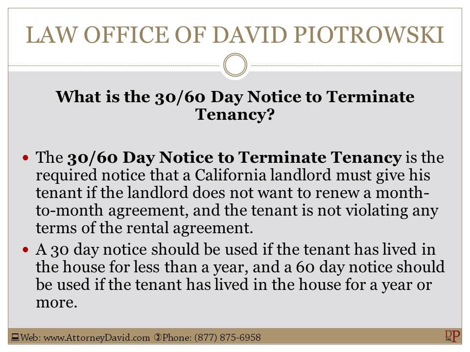 landlord termination of lease letter to tenant